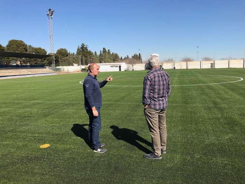 Campo de fútbol de Massamagrell. EPDA