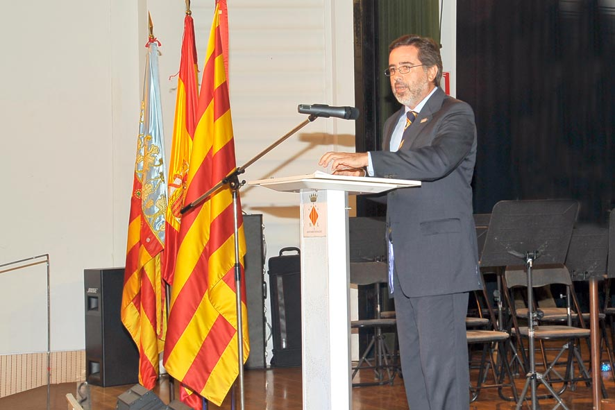Alfredo Castelló en el acto institucional del 9 d
