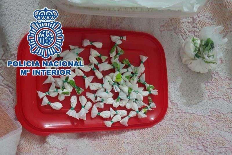 Droga intervenida en Benidorm. Foto cedida por la Policía Nacional