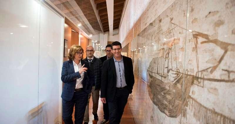 Rodríguez visita el castillo de Alaquàs. EPDA