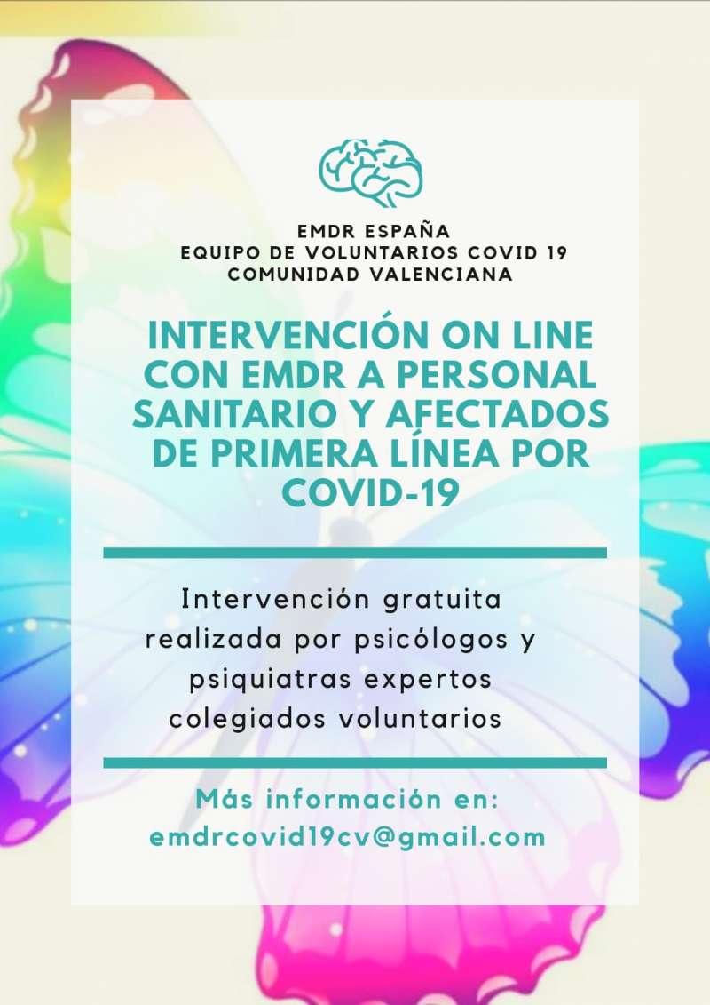 Cartel informativo de la Asociación EMDR. / EPDA