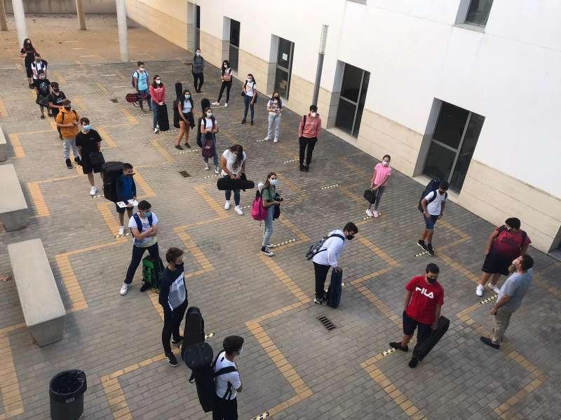 Medidas de seguridad en el Conservatorio. / EPDA