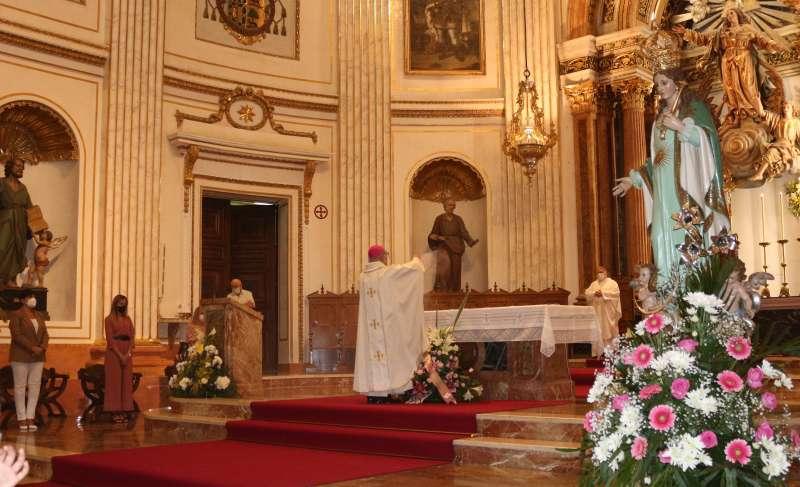 La imagen de la Esperanza presente en la ceremonia
