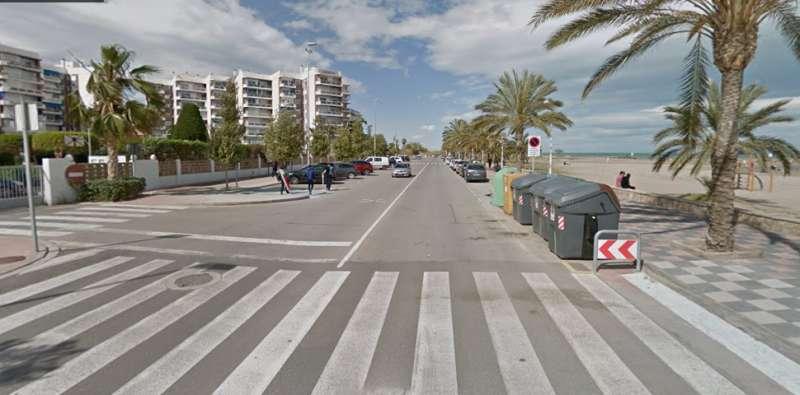 Avenida del Mediterráneo a la altura de CiudadMar.