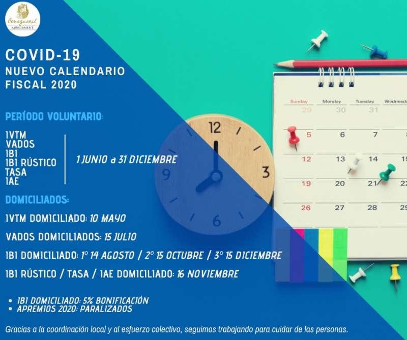 Calendario fiscal de Benaguasil. / EPDA