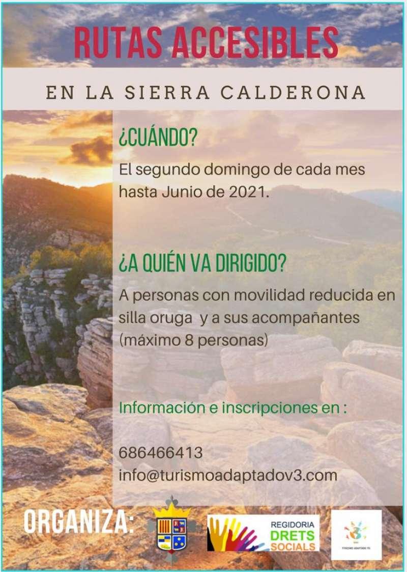 Cartel de las Rutas Accesibles. / EPDA