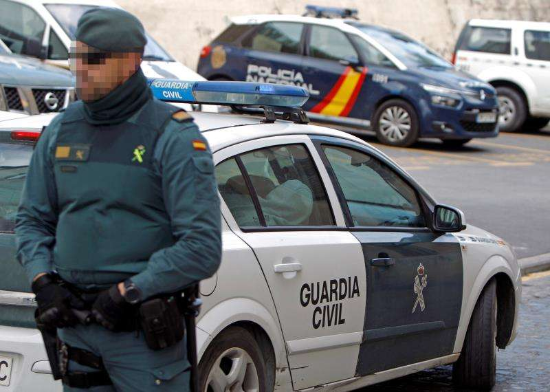 Un dispositivo de la Guardia Civil. EFE/Archivo