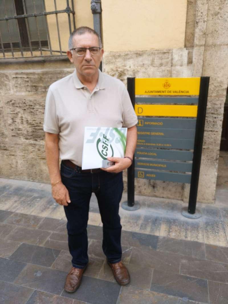 José Peñalosa en el ayuntamiento de Valencia. FOTO CISF