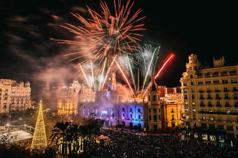 Fuegos artificiales en Valencia. EPDA