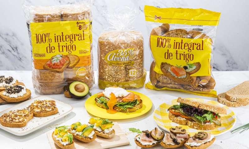 Pan tostado y de molde con harina 100% integral de Mercadona. EPDA