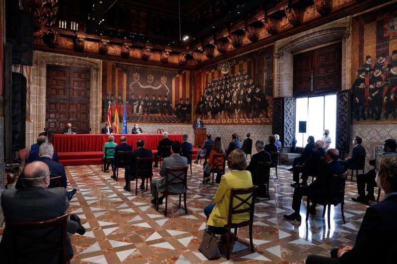 Imagen de archivo de la última edición de los Premis Rei Jaume I celebrada en el Palau de la Generalitat.
