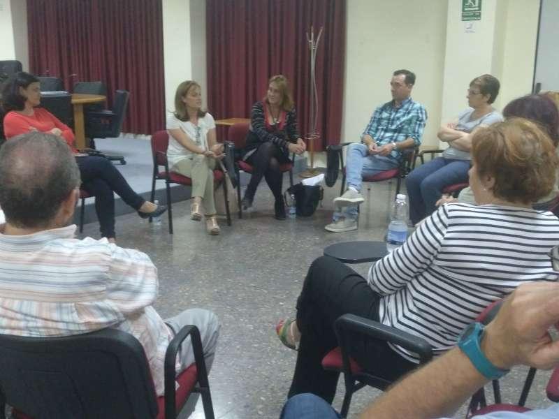 Campaña PSPV NiMésNiMenys en el municipio de Riba-roja con alcalde socialista Robert Raga.