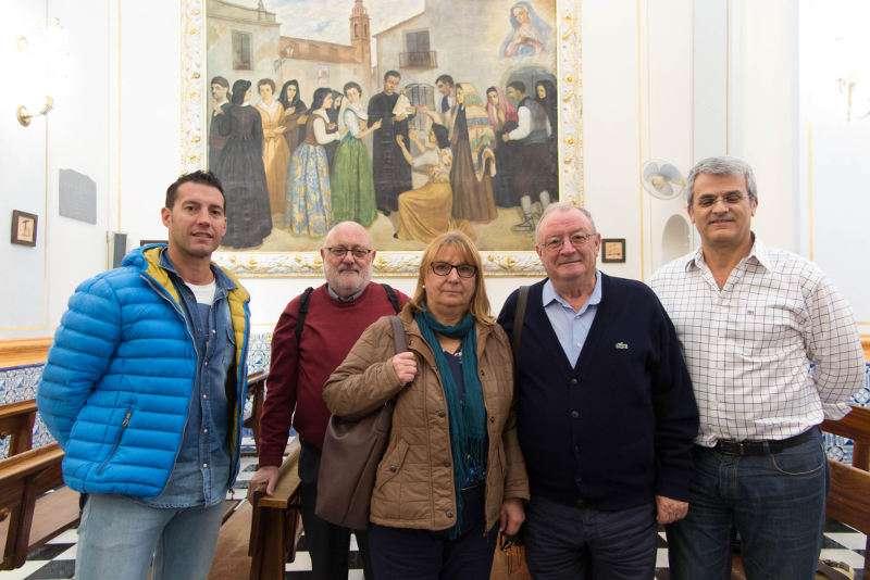 Alfonso Garcia visita les obres pictòriques de son pare a l