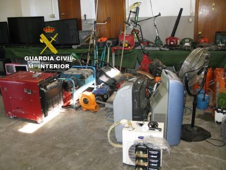 Imagen de la operación lampolos de la Guardia Civil.