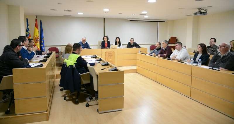 Mesa de Negociació del passat 22 de març al Saló de Plens de l