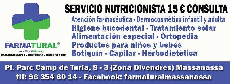 Anuncio de Farmatural de Massanassa. EPDA
