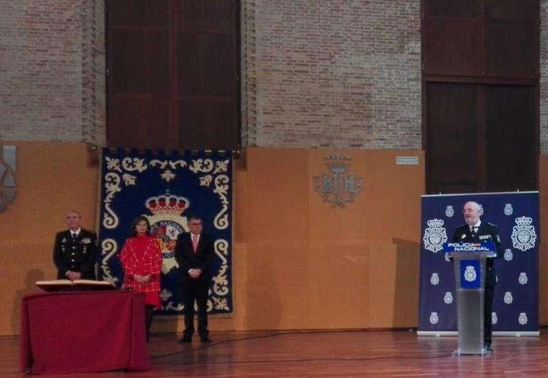 El nuevo jefe superior de Policía de la Comunitat Valenciana, Jorge Zurita, en el acto de toma de posesión de su cargo. EFE