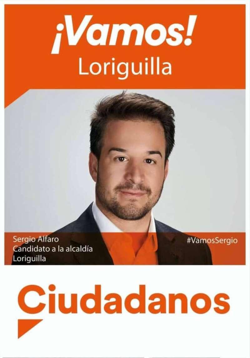 Sergio Alfaro, candidato de Ciudadanos a la alcaldía de Loriguilla./ epda