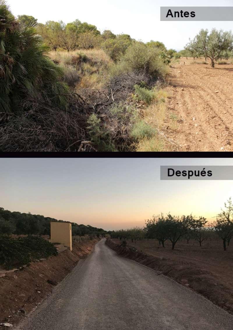 Antes y después del camí de Fornillers