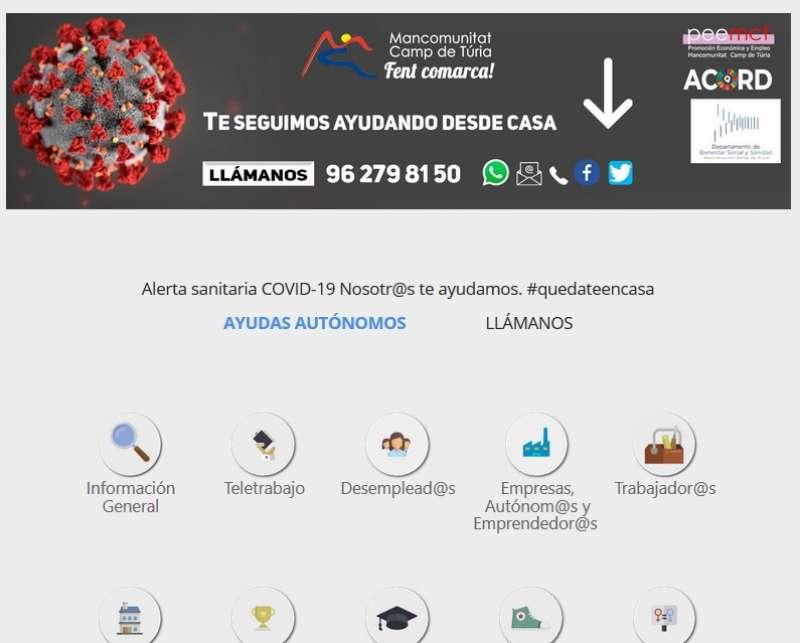 Pàgina web de la Mancomunitat. / EPDA