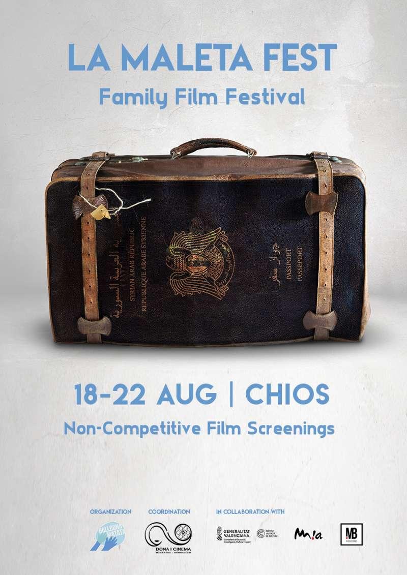 Cartel del festival La Maleta que se celebrará en Chios. EPDA