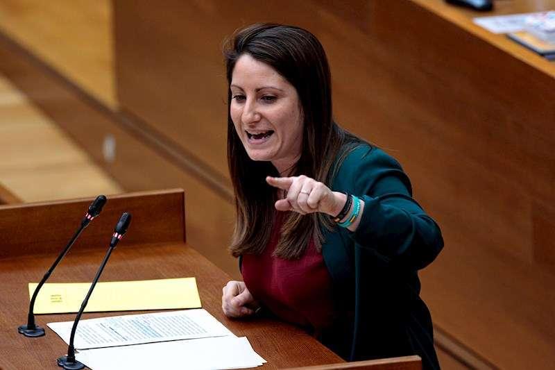 Ana Vega, portavoz de Vox en Les Corts./EPDA