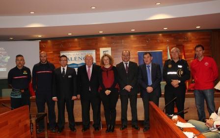 Presentación en el Ayuntamiento de Torrent junto con el diputado provincial de Bomberos.