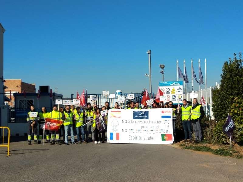 Jornada de protesta en Abelló Linde. EPDA