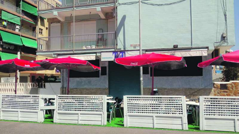 Restaurante cerca de la playa de La Pobla. EPDA