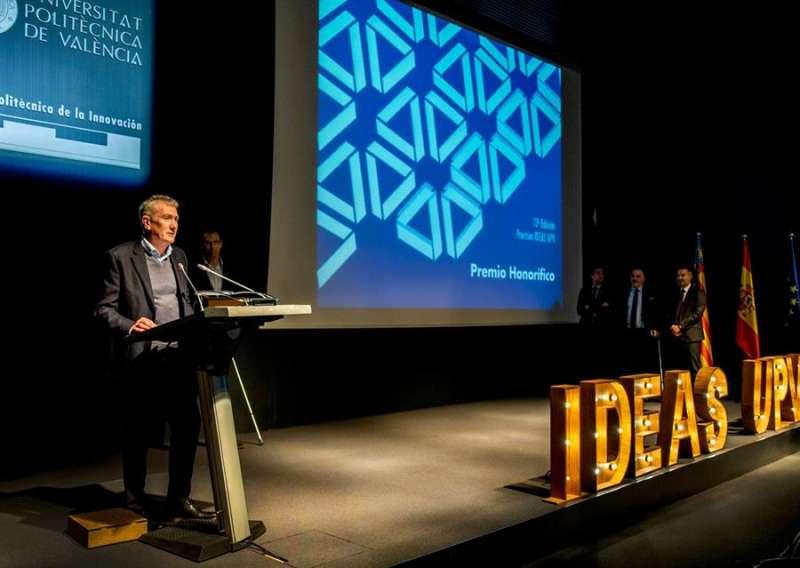Eugenio Calabuig, en un momento de su intervención, en una imagen facilitada por Global Omnium, -EFE