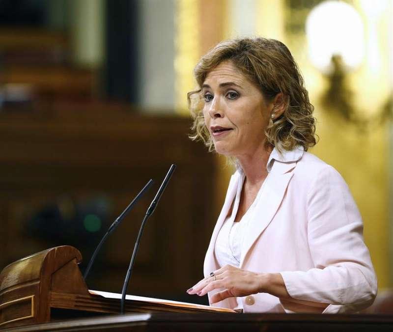 La diputada de Ciudadanos Marta Martín, durante una intervención en el pleno del Congreso. EFE/JP Gandul/Archivo