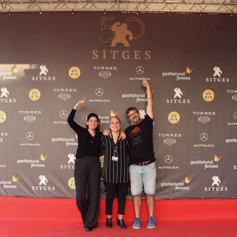 Esther Paredes, de Paiporta, en el festival de Sitges. EPDA