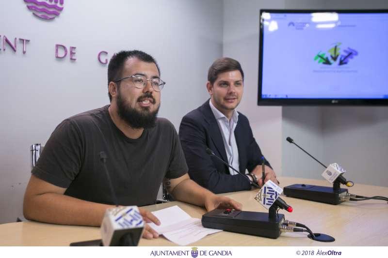 Els regidors de Polítiques Amb la Ciutadania i Modernització de Gandia, Nahuel Gonzálezi José Manuel Prieto. EPDA