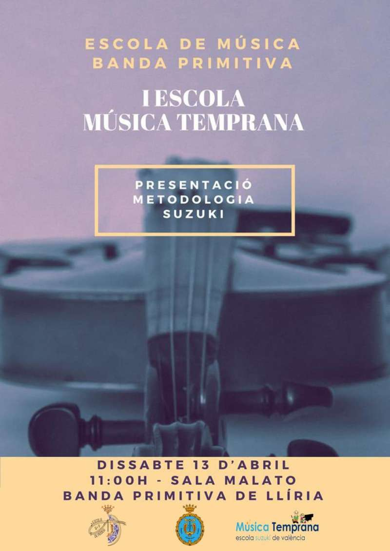Cartel de la Escuela de Música Temprana./epda