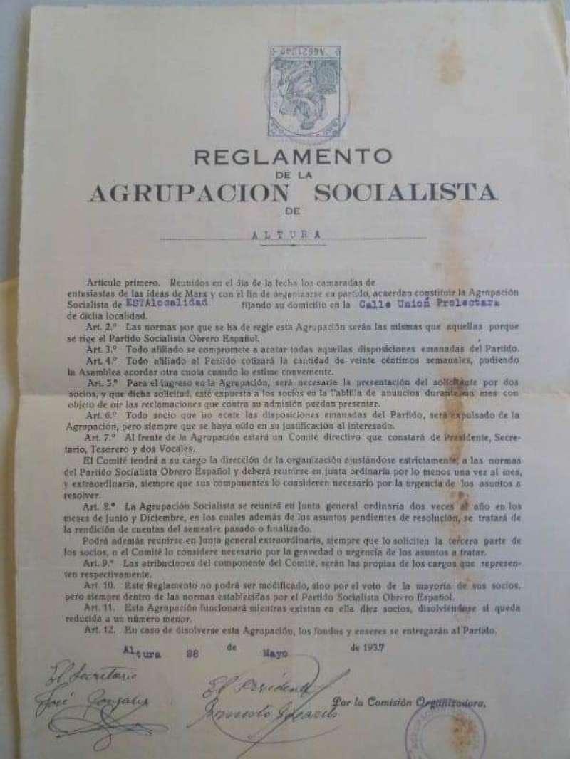 Uno de los documentos hallados