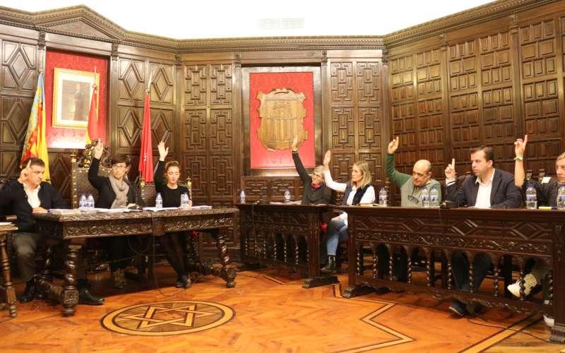 Votación en el pleno de Segorbe