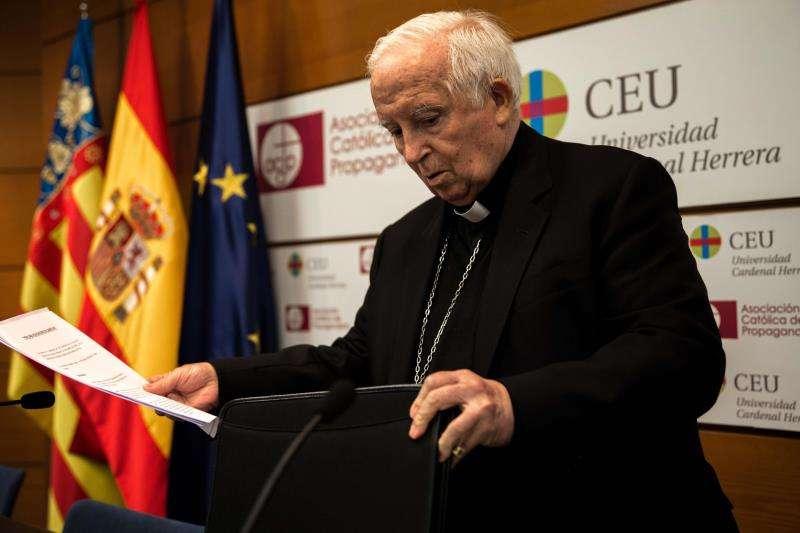 València, 31 oct (EFE).- El arzobispo de Valencia, el cardenal Antonio Cañizares.