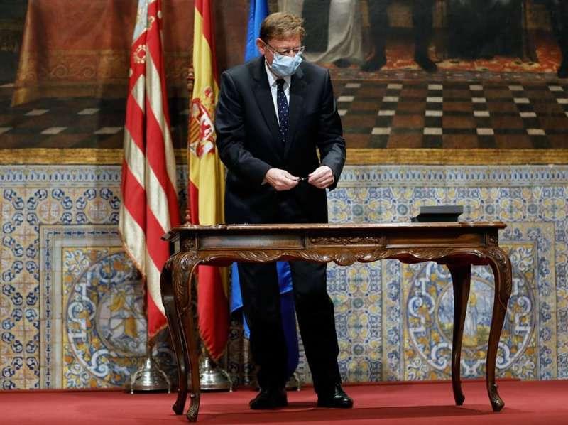 El president de la Generalitat, Ximo Puig , preside la reunión de la mesa institucional y la firma del acuerdo