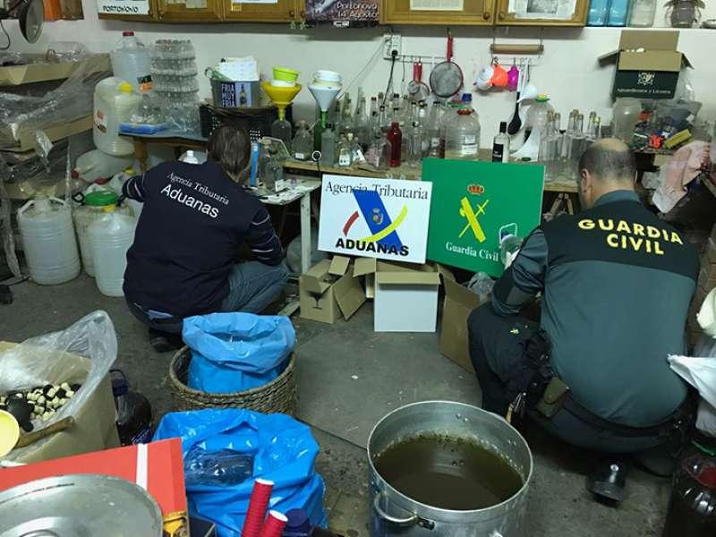Destilería clandestina ubicada en Alboraya. EPDA