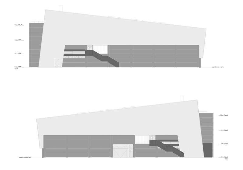 Alçat del pavelló cobert de Meliana. EPDA