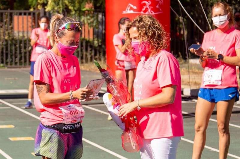 La Carrera Virtual de la MUjer de Valencia homenajeó a la atleta María Vasco. Imagen facilitada por la organización. EFE