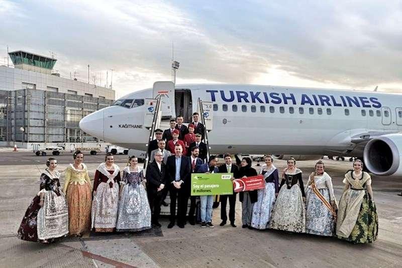El Aeropuerto de Valencia recibe al pasajero 8 millones, en una imagen difundida por Aena.