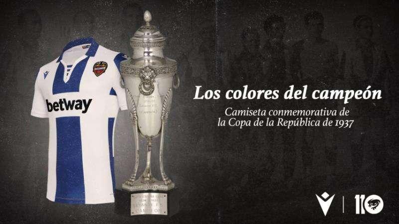La segunda equipación del Levante homenajeará a la Copa de la República. Imagen facilitada por el Levante UD. EFE