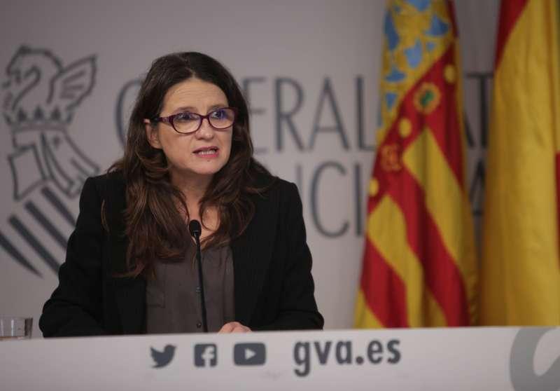 Mónica Oltra durante el pleno del Consell.