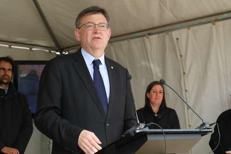 Ximo Puig, en su discurso en el inicio de las obras del Centro
