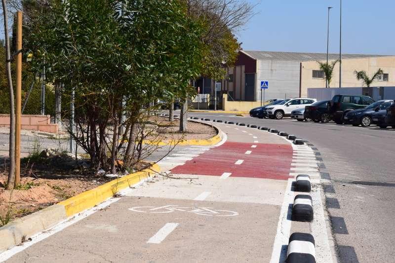 Carril bici en Torrent. EPDA