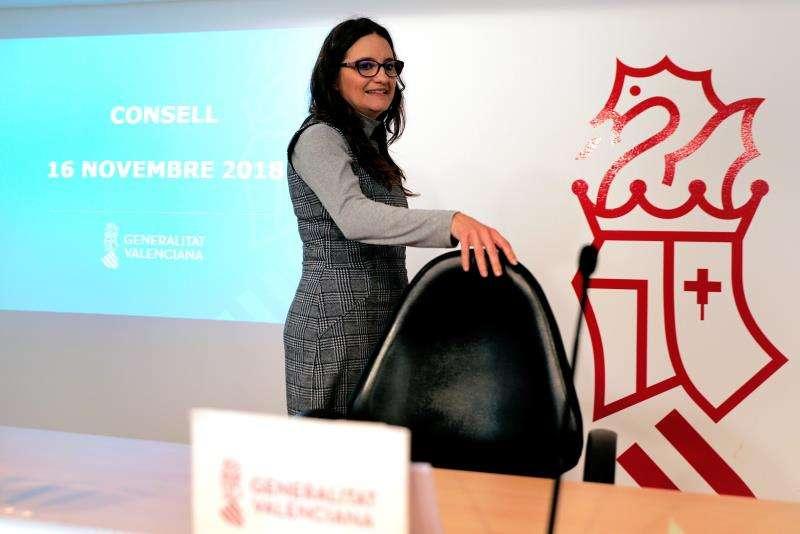 La vicepresidenta y Portavoz del Gobierno valenciano, Mónica Oltra