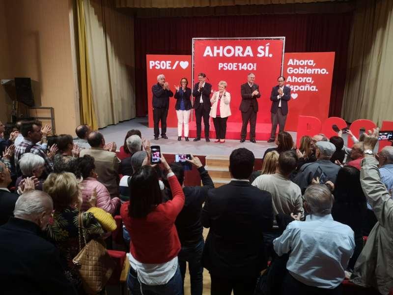 Momento del acto de campaña. / EPDA