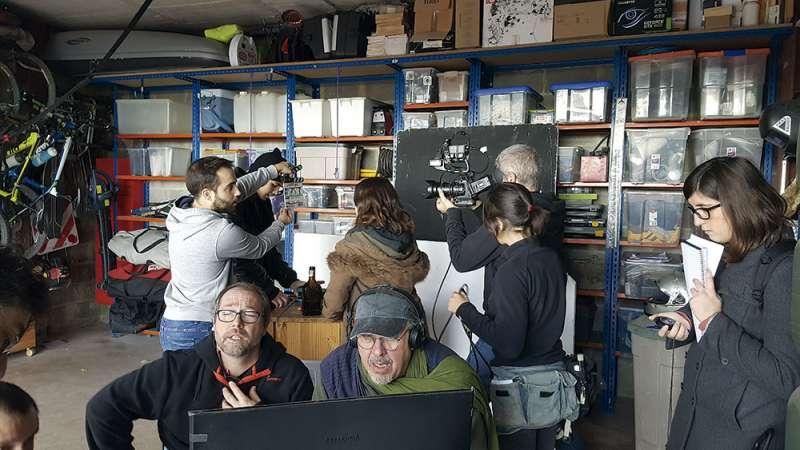 Pedro Pérez Rosado al frente del rodaje. FOTO EPDA
