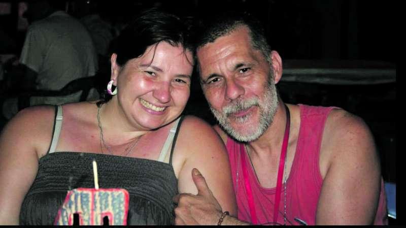 Joan Sorribes y su mujer, Carmen Equiza